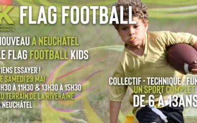 Nouveau à neuchâtel – flag football kids